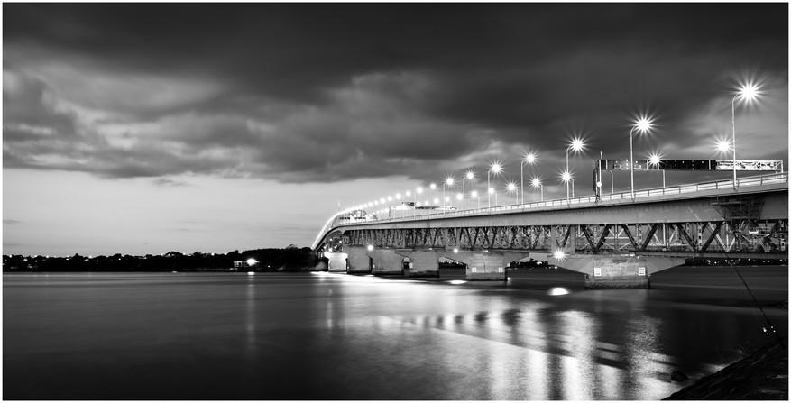Auckland Harbour Bridge at sunset...