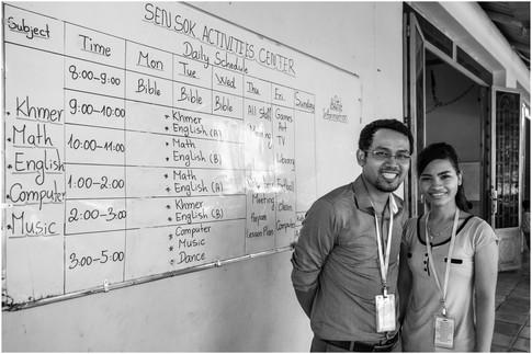 Cambodian school teachers
