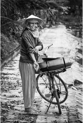 Vietnamese woman and bicycle