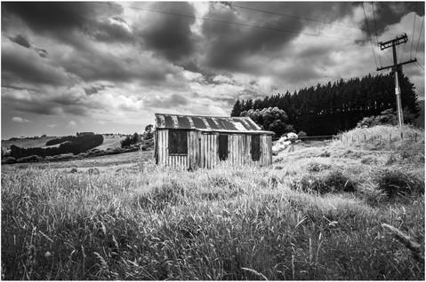 Rural New Zealand rusty farm shed...