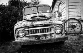 Rusty old pickup truck...