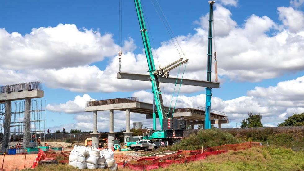 Bridge construction timelapse