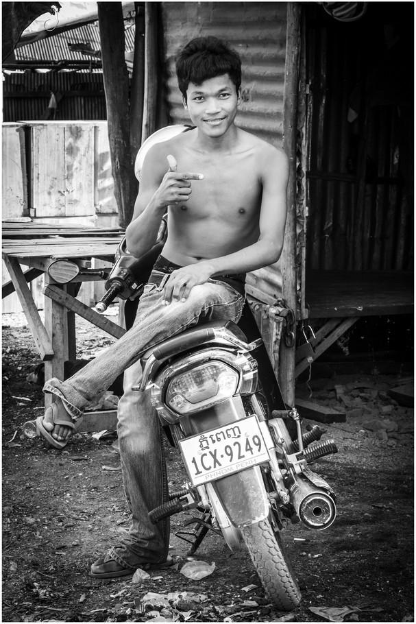 Cambodian slum teenager