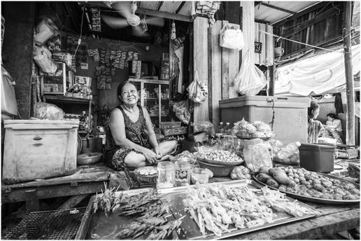 Cambodian slum store owner