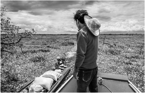 Trade route in wet season, central Cambodia