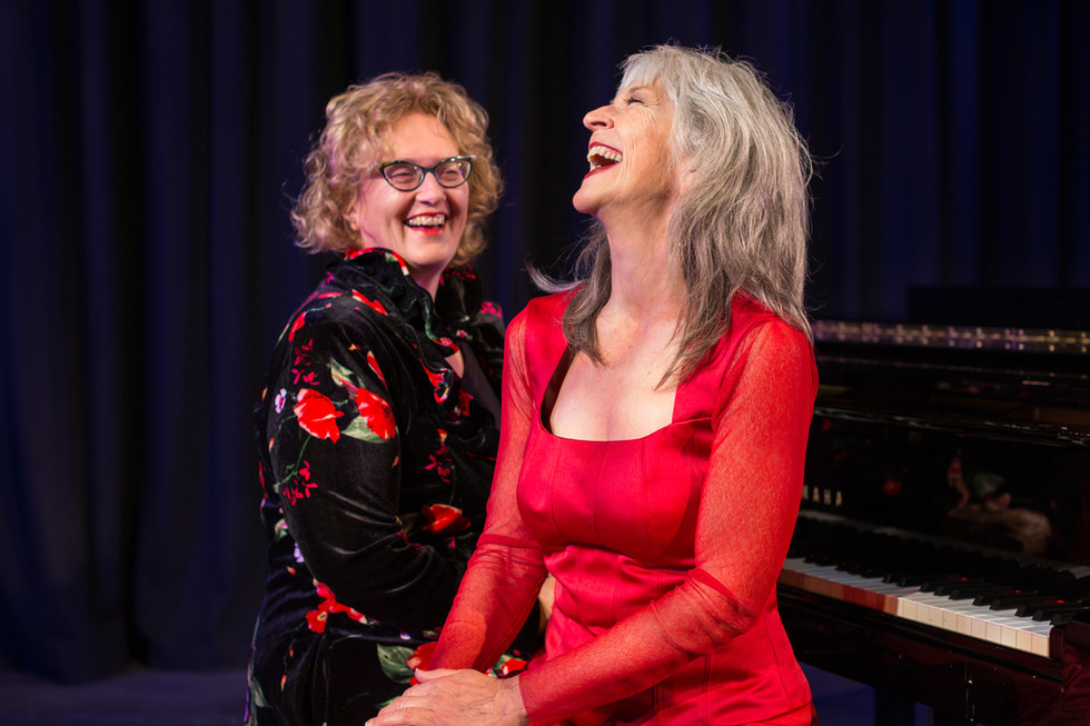 Helen Medlyn and Penny Dodd show...