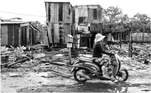 Cambodian slum village