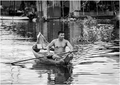 Village man coming home from market