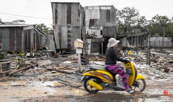 Cambodia slum living...