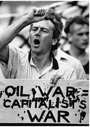 Oil war protestor Gulf war one