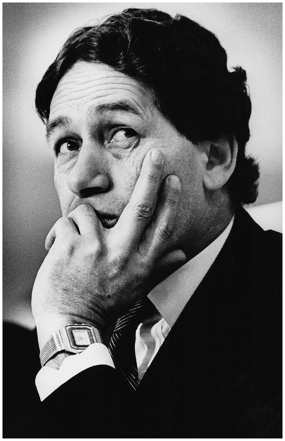 Portrait of politician Winston Peters looking thoughtful