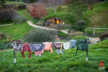 Hobbit washing...