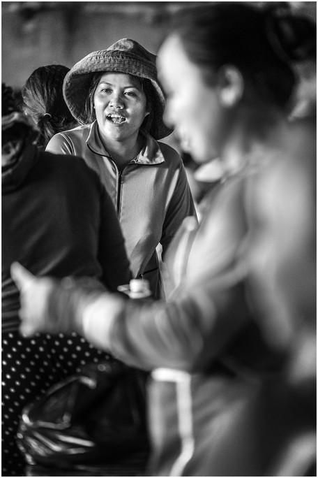 Vietnamese woman farmer at market