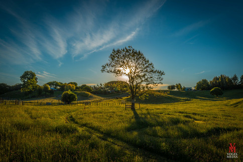 Sunset in the country...