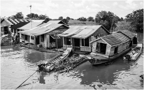 Floating village, Central Cambodia
