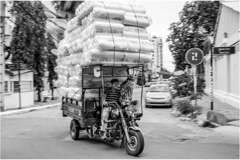 Cambodian delivery truck