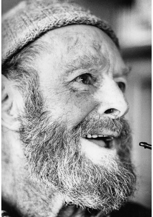 Old sailor and pipe portrait