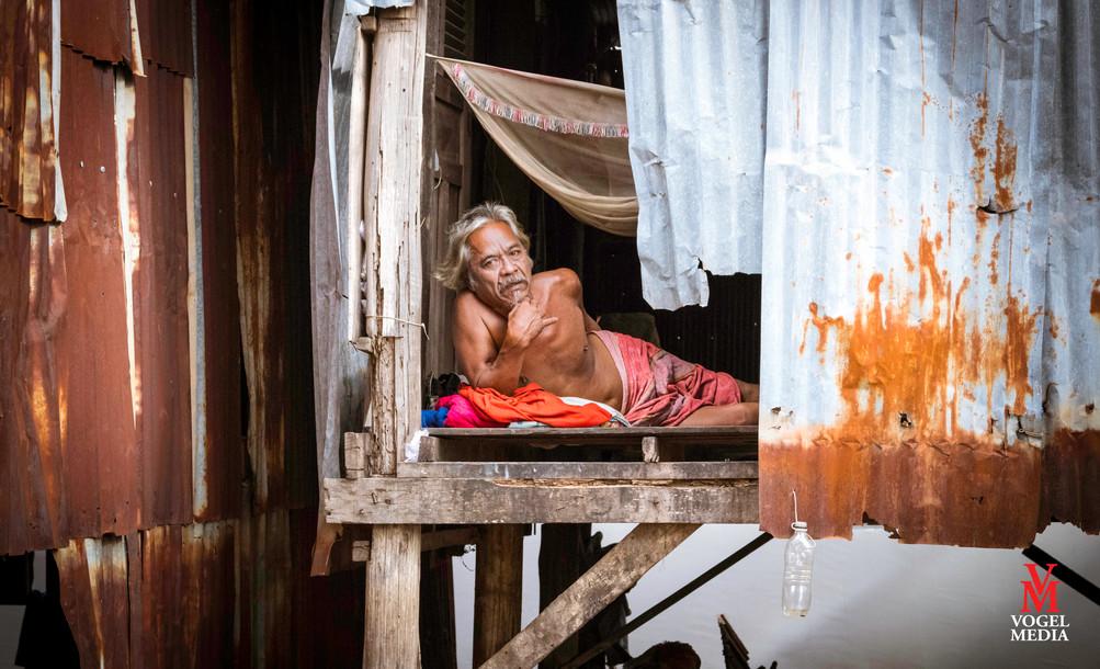 Cambodian man...