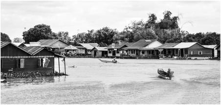 Main street - wet season, Central Cambodia