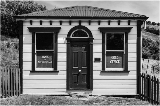 Gold Office at St. Bathans, New Zealand...