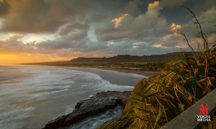 West Coast beach at sunset...
