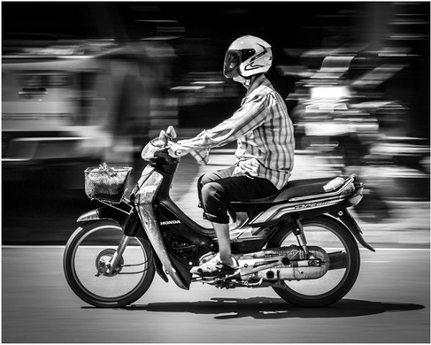 Commuter in Phnom Penh