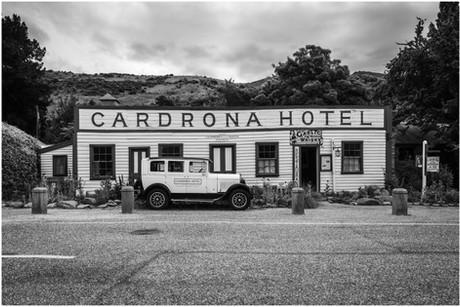 Cardrona Hotel and vintage car...