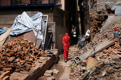 2015's earthquake city's most affected area, Kathmandu, Nepal, 2018