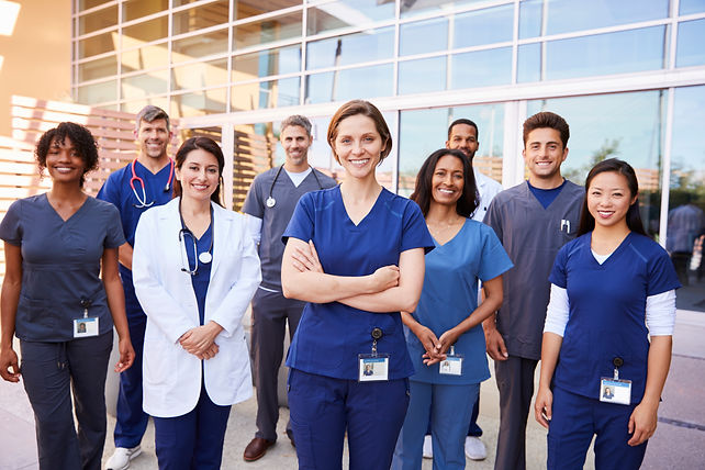 team-of-healthcare-workers-with-id-badge
