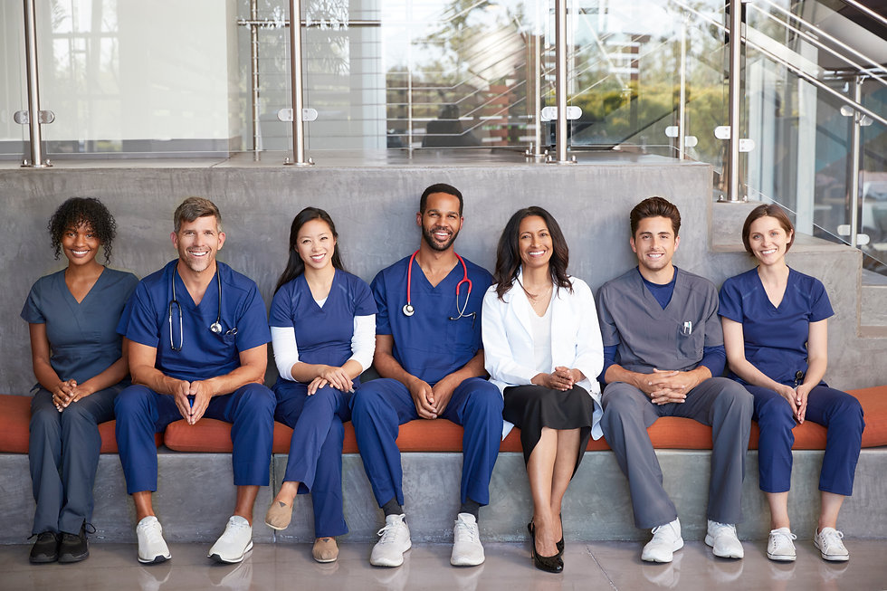 healthcare-workers-sitting-together-in-a