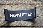 Black papper with newsletter. Black papp