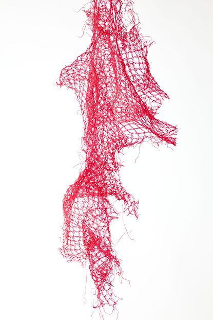 malla plástica roja