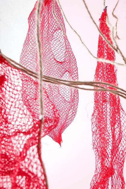 cocoon, Red. vientre plástico, contemporary art, photography