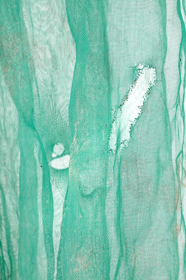 red verde obra -construcción arte contemporáneo