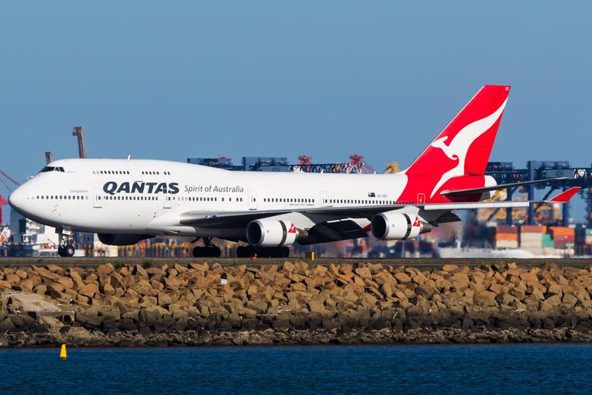 VH-OEE Qantas B744