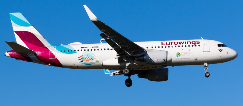 New special scheme on Eurowings A320 visit Dresden Airport
