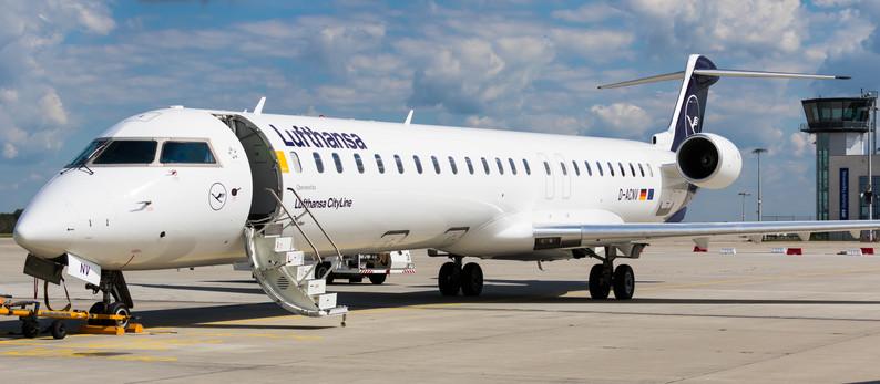 First regular passenger flight after Corona lockdown at Dresden Airport (DRS)