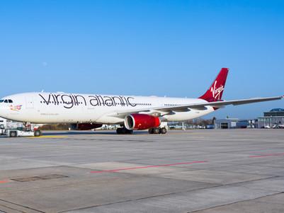Virgin Atlantic Airways Airbus A330 arrived at Dresden Airport