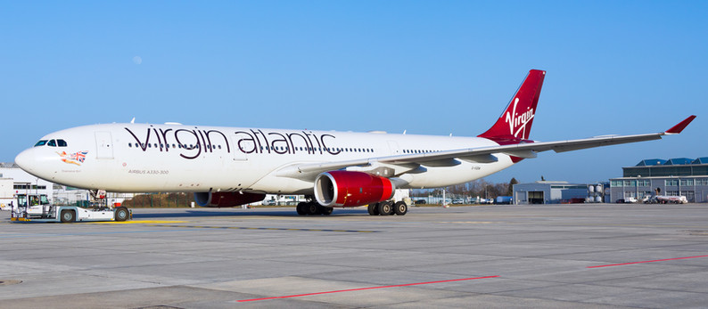 Virgin Atlantic Airways Airbus A330 arrived at Dresden Airport