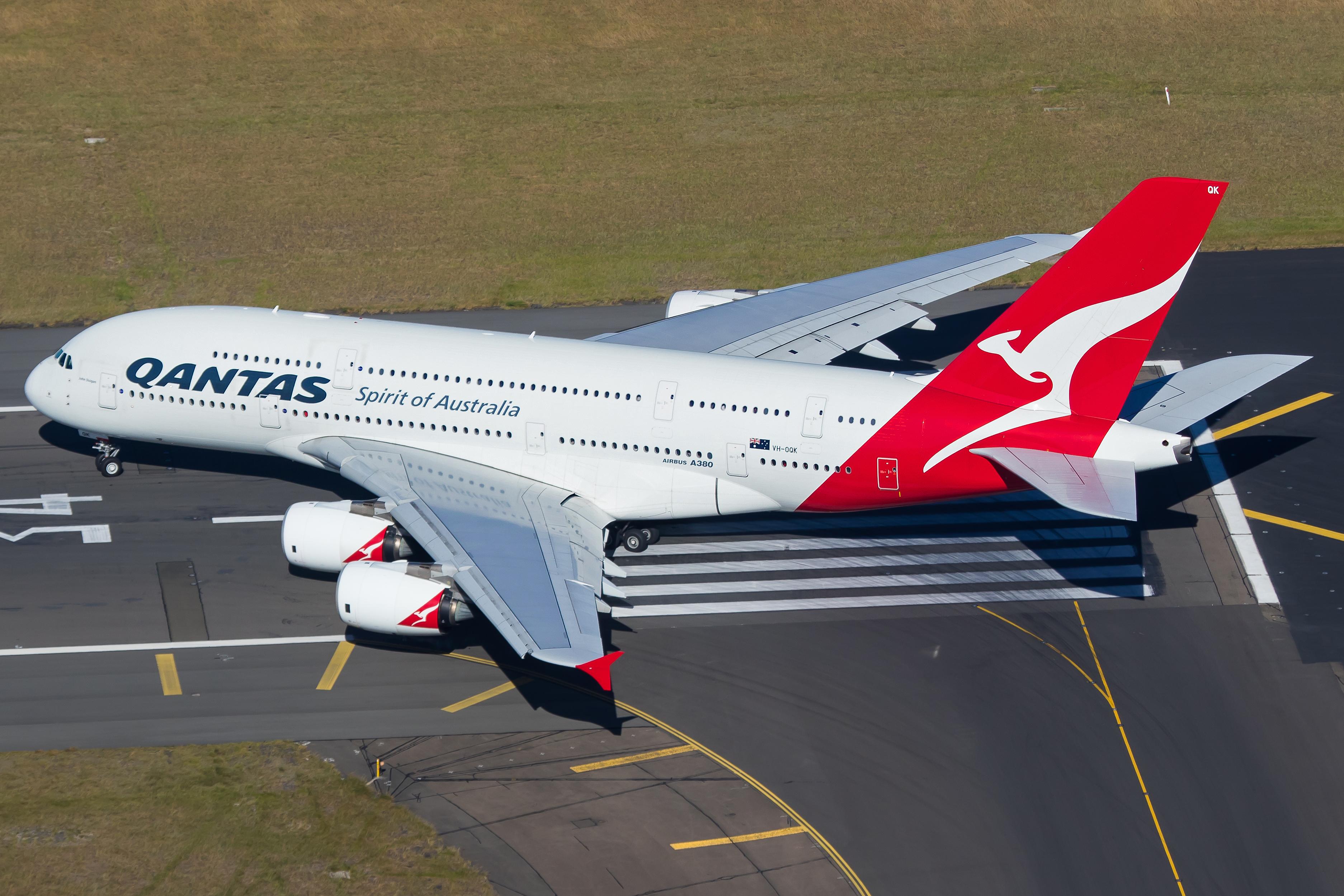 VH-OQK Qantas A380-800