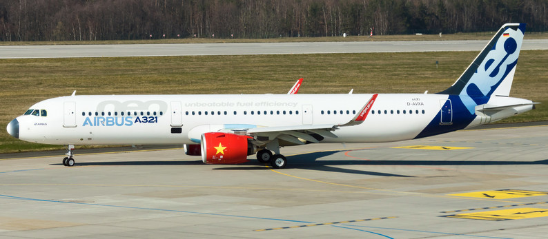 New VietJet A321NEO and Qantas A380 maintenance and storage at Dresden Airport