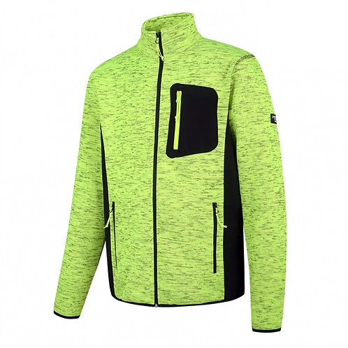 High visibility sweater with full zipper