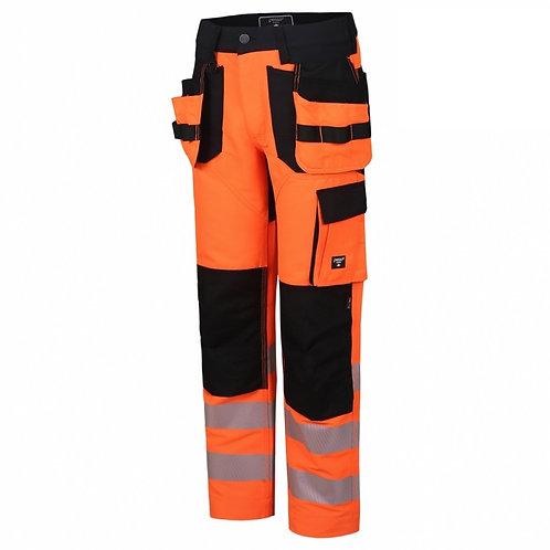 Workwear High Visibility Trousers Uranus Flexpro, Hi Vis orange