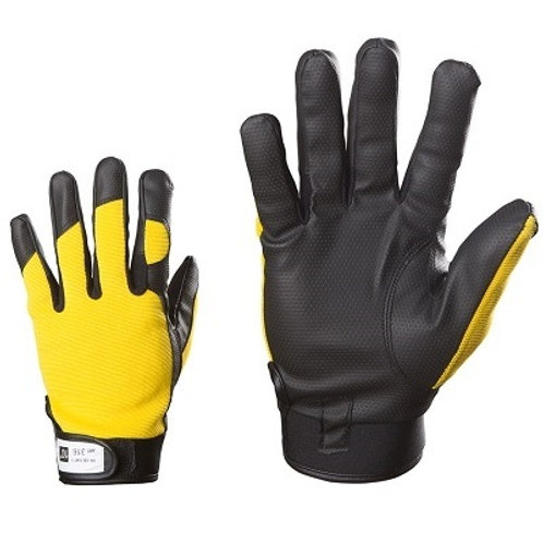 Synthetic leather working gloves