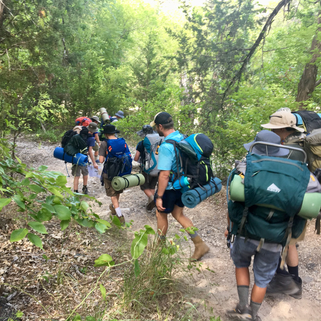 Squad STX Tactical Camping for Boys - hiking in the afternoon