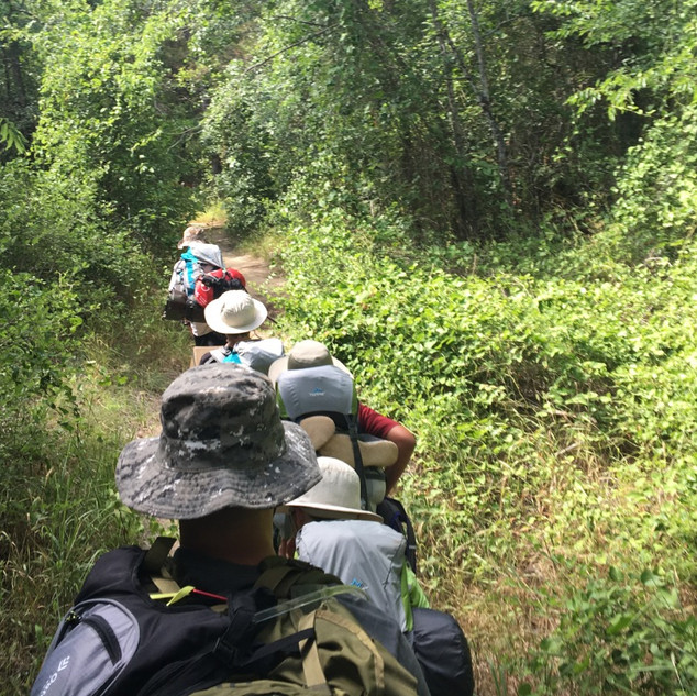 Squad STX Tactical Camping for Boys - hiking in thick brush