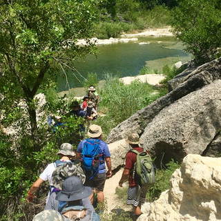 Squad STX Tactical Camping for Boys - hiking to swimming hole