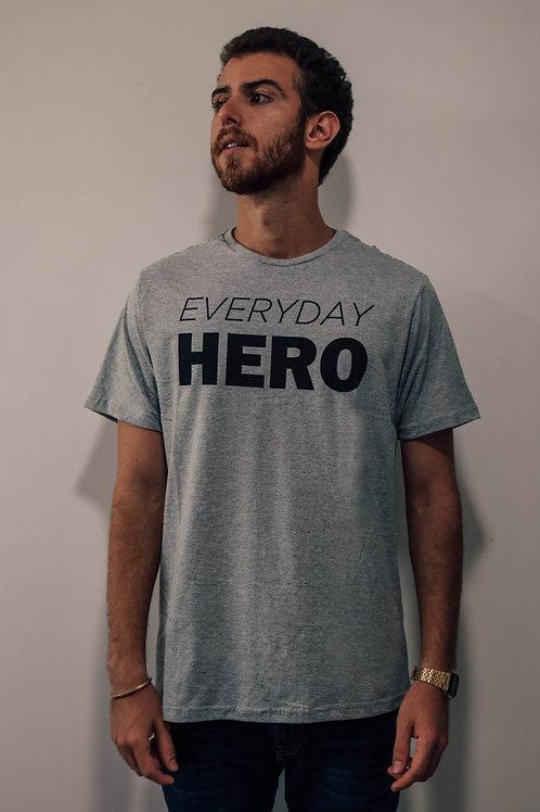 Camisa Masculina Cinza Everyday Hero