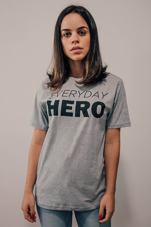 Camisa Feminina Cinza Everyday Hero