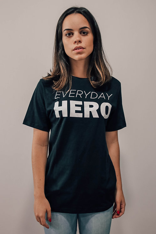 Camisa Feminina Preta Everyday Hero